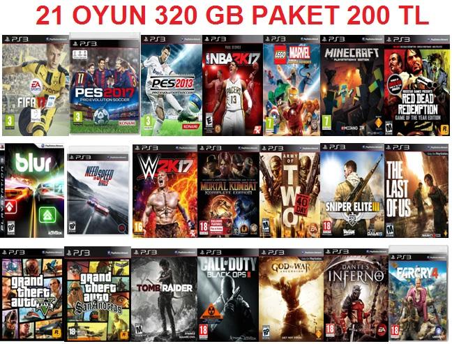 21 OYUN 320 GB YENİ KLON PAKET JPG