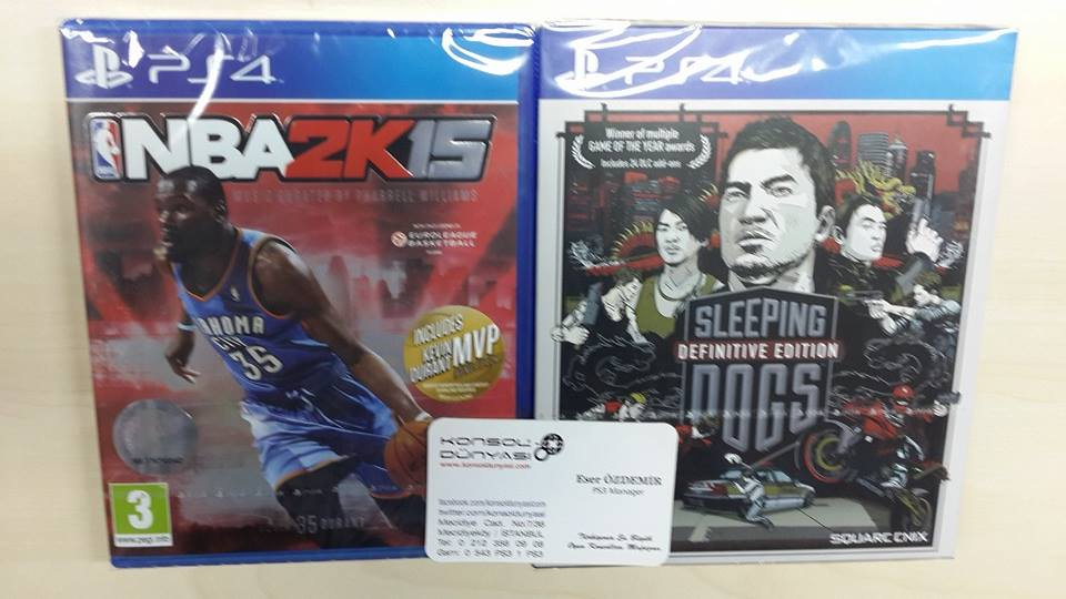 PS4 SLEEPING DOGS vs nba2k15