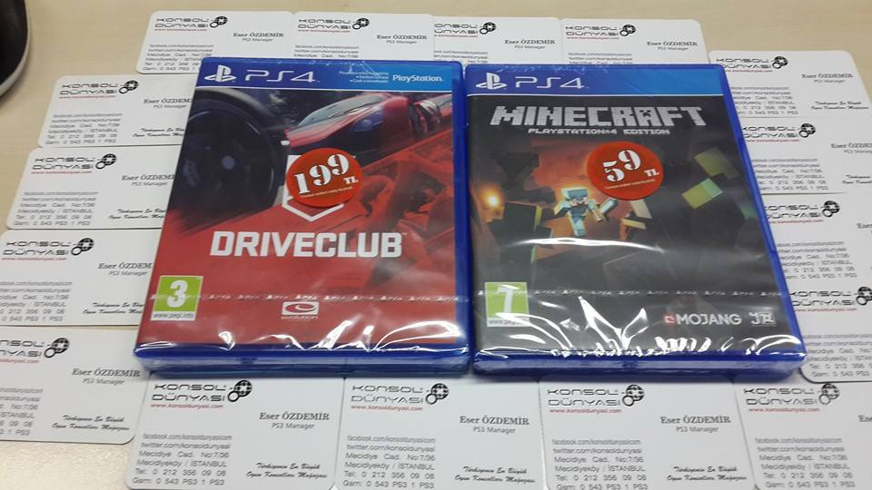 ps4  DRIVECLUP VS MINECRAFT