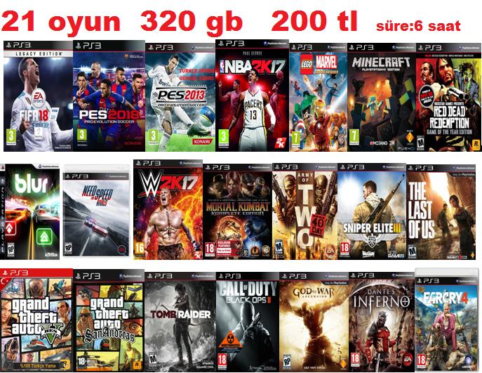 PS3 OYUN YÜKLEME KIRMA