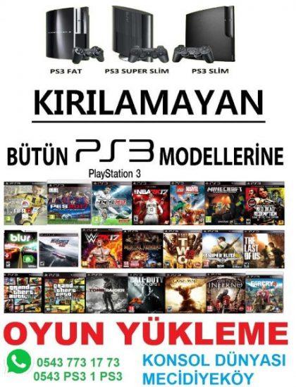 PS3 KIRMA,OYUN YÜKLEME